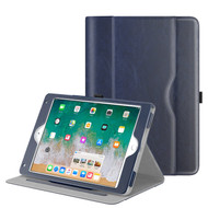 Slim Folding Smart Leather Folio Stand Case for iPad (2018/2017) / iPad Air 2 / iPad Air - Navy Blue