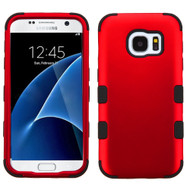 Military Grade Certified TUFF Hybrid Armor Case for Samsung Galaxy S7 - Red
