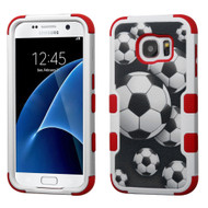 Military Grade Certified TUFF Hybrid Armor Case for Samsung Galaxy S7 - Soccer