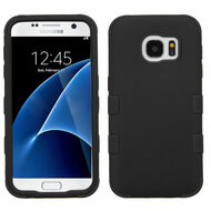 Military Grade Certified TUFF Hybrid Armor Case for Samsung Galaxy S7 - Black