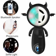 3-IN-1 Multi-Functional Bluetooth Wireless Speaker / Camera Lens / Selfie Light