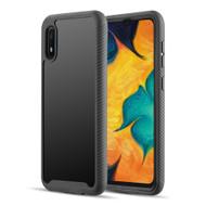 Tough Fusion-X 2-Piece Hybrid Armor Case for Samsung Galaxy A10e - Black