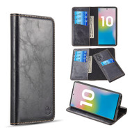 2-IN-1 Luxury Magnetic Leather Wallet Case for Samsung Galaxy Note 10 Plus - Black