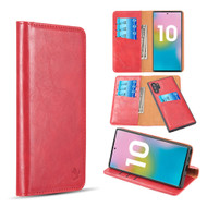 2-IN-1 Luxury Magnetic Leather Wallet Case for Samsung Galaxy Note 10 Plus - Red