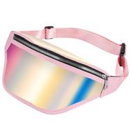 Iridescent Fanny Waist Pack - Pink