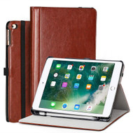 Stand Folio Smart Leather Hybrid Case for iPad (2018/2017) / iPad Air 2 / iPad Air - Brown