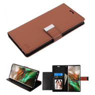 Xtra Series Essential Leather Wallet Stand Case for Samsung Galaxy Note 10 Plus - Brown