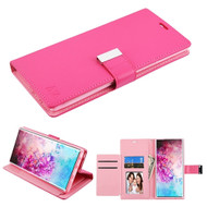Xtra Series Essential Leather Wallet Stand Case for Samsung Galaxy Note 10 Plus - Hot Pink