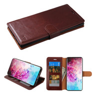 Element Series Book-Style Leather Folio Case for Samsung Galaxy Note 10 Plus - Brown