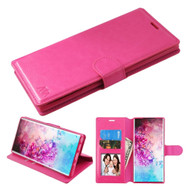 Element Series Book-Style Leather Folio Case for Samsung Galaxy Note 10 Plus - Hot Pink
