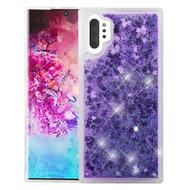 Quicksand Glitter Transparent Case for Samsung Galaxy Note 10 Plus - Purple