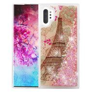 Quicksand Glitter Transparent Case for Samsung Galaxy Note 10 Plus - Eiffel Tower