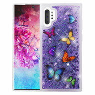 Quicksand Glitter Transparent Case for Samsung Galaxy Note 10 Plus - Butterfly Dancing
