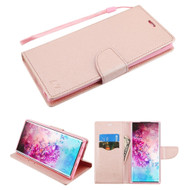 *Sale* Crossgrain Series Diary Leather Wallet Stand Case for Samsung Galaxy Note 10 Plus - Rose Gold