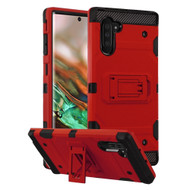 Military Grade Certified Storm Tank Hybrid Armor Case with Stand for Samsung Galaxy Note 10 - Red