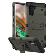 Military Grade Certified Storm Tank Hybrid Armor Case with Stand for Samsung Galaxy Note 10 - Dark Grey