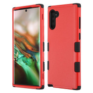 Military Grade Certified TUFF Hybrid Armor Case for Samsung Galaxy Note 10 - Red