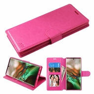 Element Series Book-Style Leather Folio Case for Samsung Galaxy Note 10 - Hot Pink