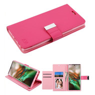 *Sale* Xtra Series Essential Leather Wallet Stand Case for Samsung Galaxy Note 10 - Hot Pink