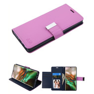 Xtra Series Essential Leather Wallet Stand Case for Samsung Galaxy Note 10 - Purple