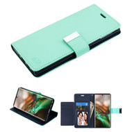 Xtra Series Essential Leather Wallet Stand Case for Samsung Galaxy Note 10 - Teal Green