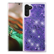 Quicksand Glitter Transparent Case for Samsung Galaxy Note 10 - Purple