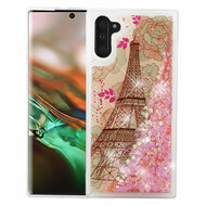 Quicksand Glitter Transparent Case for Samsung Galaxy Note 10 - Eiffel Tower