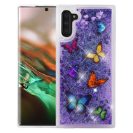 Quicksand Glitter Transparent Case for Samsung Galaxy Note 10 - Butterfly Dancing