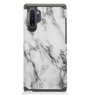 Hybrid Multi-Layer Armor Case for Samsung Galaxy Note 10 Plus - Marble White