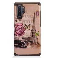 Hybrid Multi-Layer Armor Case for Samsung Galaxy Note 10 Plus - Eiffel Tower