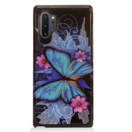 Hybrid Multi-Layer Armor Case for Samsung Galaxy Note 10 Plus - Blue Butterfly