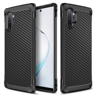 Tough Anti-Shock Hybrid Case for Samsung Galaxy Note 10 Plus - Carbon Fiber