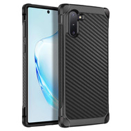 Tough Anti-Shock Hybrid Case for Samsung Galaxy Note 10 - Carbon Fiber