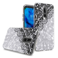 Pearl Seashell Dual Layer Hybrid Case for LG Stylo 5 - Lace