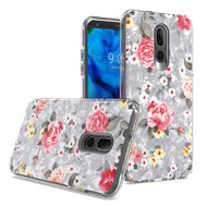 Pearl Seashell Dual Layer Hybrid Case for LG Stylo 5 - Flowers