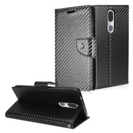 *Sale* Diary Leather Wallet Stand Case for Coolpad Legacy - Carbon Fiber