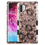 Military Grade Certified TUFF Hybrid Armor Case for Samsung Galaxy Note 10 Plus - Four Leaf Clover Rose Gold