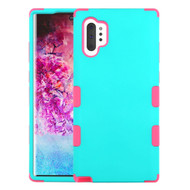 Military Grade Certified TUFF Hybrid Armor Case for Samsung Galaxy Note 10 Plus - Teal Green Hot Pink
