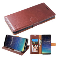 Element Series Book-Style Leather Folio Case for Coolpad Legacy - Brown
