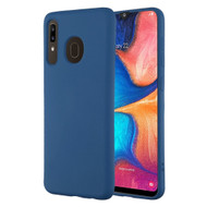 Liquid Silicone Protective Case for Samsung Galaxy A50 / A20 - Navy Blue