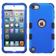 Military Grade Certified TUFF Hybrid Armor Case for iPod Touch (5th, 6th and 7th Generation) - Blue 005