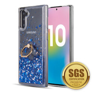 *Sale* Quicksand Glitter Case with Smart Loop Ring Holder for Samsung Galaxy Note 10 - Blue