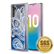 Quicksand Glitter Transparent Case for Samsung Galaxy Note 10 - Persian Paisley