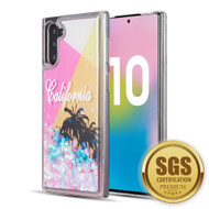 Quicksand Glitter Transparent Case for Samsung Galaxy Note 10 - California