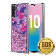 Quicksand Glitter Transparent Case for Samsung Galaxy Note 10 - Hibiscus