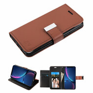 Xtra Series Essential Leather Wallet Stand Case for iPhone XR - Brown