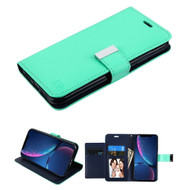 Xtra Series Essential Leather Wallet Stand Case for iPhone XR - Teal Green