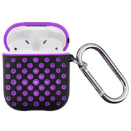 Perforated Hard Shell Protective Case for Apple AirPods - Purple