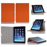 Book-Style 360 Degree Smart Rotating Case for iPad (2018/2017) / iPad Air - Orange