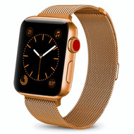 Magnetic Mesh Band Stainless Steel Watch Strap for Apple Watch 44mm / 42mm - Gold